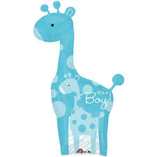 baby boy giraffe supersize balloon baby shower party themes
