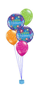 balloon bouqet happy retirement balloon bouquet party fever