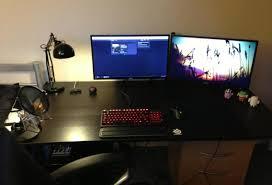 desk stunning gaming computer desks alluring pc gaming setup