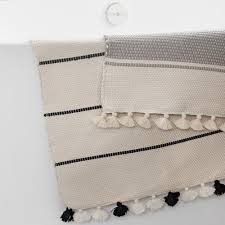 Black And White Bathroom Rugs Moroccan Bath Rug Ivory And Black Bathroom Rugs U2013 The Citizenry