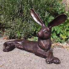 bronze hare sculpture antique bronze statues and ornaments