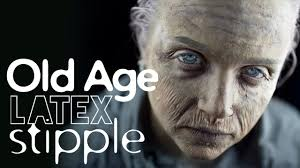 Halloween Old Lady Makeup by Old Age Latex Stipple Makeup Tutorial Youtube
