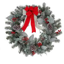 spirit halloween crestwood christmas wreaths u0026 garland christmas decorations the home depot