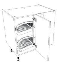 plateau tournant meuble cuisine meuble angle cuisine elment bas du0027angle retour avec porte avec