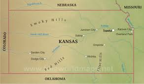 United States Travel Map by Physical Map Of Kansas