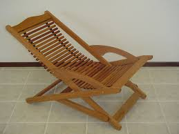wood folding sling chair