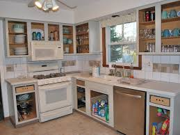 Height Of Kitchen Cabinets Kitchen 51 Black Oak Full Height Kitchen Cabinet With White
