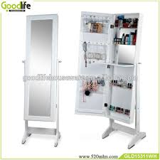 floor standing jewelry cabinet with mirror living room furniture