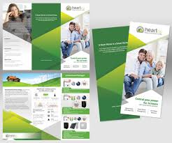 modern colorful brochure design for heartau by soulafella