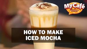 iced espresso macchiato how to make iced mocha recipes from my cafe and js barista