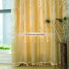 Gold Living Room Curtains Polyester Fabric Gold Curtains In Living Room
