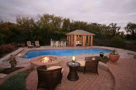 exterior nice stone firepit design ideas for modern backyard