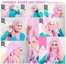 tutorial hijab segi empat paris simple busana cantik faira tips memakai jilbab segi empat yang simple dan