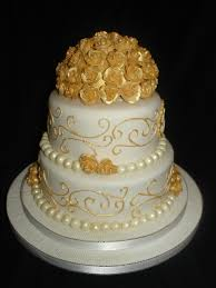 50th wedding anniversary cakes golden 50th wedding anniversary fondant cake cakecentral