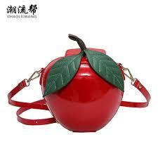 handtaschen design chaoliubang lustige tasche frau leder handtaschen rot grün apfel