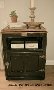 distressed black country style night stand by analia pastori