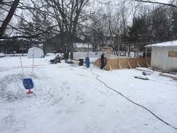 How To Build A Backyard Ice Rink by Winnipeg Family Builds Epic Backyard Ice Rink In North Kildonan
