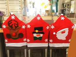 Christmas Chair Back Covers 2017 New Fashion Santa Claus Chair Back Cover Xmas Christmas Chair