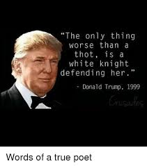 White Knight Meme - the only thing worse than a thot is a white knight defending her