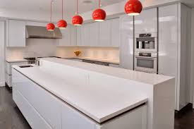 kitchen stunning modern white and red kitchen decoration using