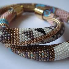 bead crochet rope bracelet images Best crochet beaded rope necklace patterns products on wanelo jpg