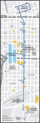 power and light district map kansas city streetcar visit kc