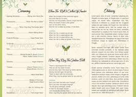 tri fold wedding program templates 28 images of downloadable tri fold funeral program template