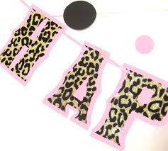 leopard print party supplies cheetah print birthday banner leopard print party decor
