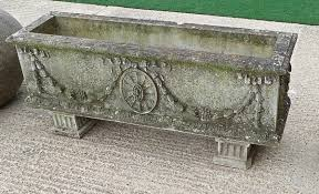 a 20c adam style reconstituted stone troughs stock blanchard