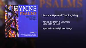 festival hymn of thanksgiving