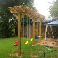 swing pergola backyard garden with pergola swings creating a garden swing in