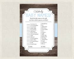 baby shower rustic wood blue shower celebrity baby names
