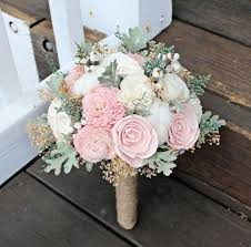 rustic wedding bouquets alternative wedding bouquet luxe collection ivory blush dusty