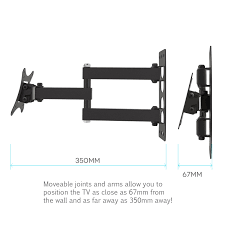 tv wall mount company yousave accessories slim cantilever tv wall mount 10