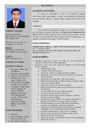 experience resume for production engineer resume manufacturing engineer