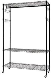 amazon com finnhomy sturdy shelving garment rack rolling clothes
