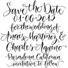 Save The Date Stamp Save The Date Custom Handwritten Calligraphy Stamp Angeliqueink