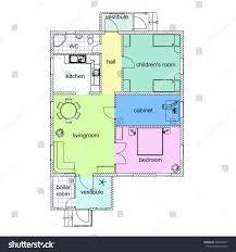 Floor Plan Of Apartment Floor Plan Modern Apartment 2d Vector Stock Vector 360794321
