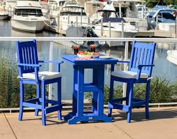 Bar Height Patio Chair Poly Lumber Garden Mission Bar Chair