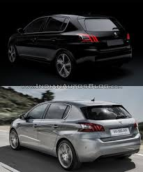 new peugeot sedan 2017 peugeot 308 vs 2013 peugeot 308 old vs new
