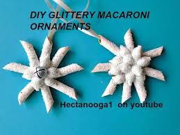 ornaments diy glittery macaroni ornament crafts for