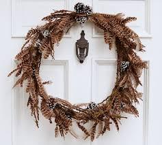 pine cone wreath feather pine cone wreath pottery barn