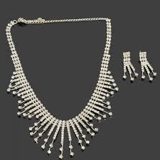 rhinestone necklace set images Weiya 50 2 charming rhinestone necklace stud earrings bridal jpg