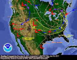 Weather Map Ohio by June 2011