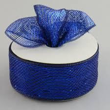 deco mesh ribbon 2 5 poly deco mesh ribbon metallic navy royal rs200457