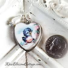 jewelry charm necklace images Broken china jewelry charm happy blue bird of happiness charm pendant jpg