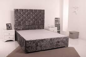 Divan Bed Frames Giltedge Beds 5ft Kingsize Divan Base Crushed Velvet Fabric