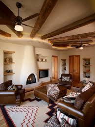 Santa Fe Style Interior Design by Santa Fe Style Dining Room Mediterranean With Salmon Chairs