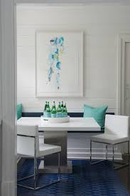 Navy Table L Turquoise And Navy Dining Nook With Built In Banquette
