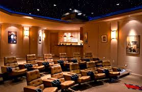 Home Movie Theater Decor Ideas by Highland Homes Rough Hollow Media Room Lakeway Tx Plan Home